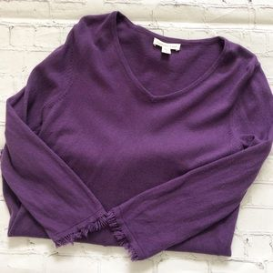 Coldwater Creek Purple 3/4 Sleeve Blouse